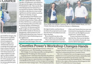 The Counties Power Workshop Changes hands